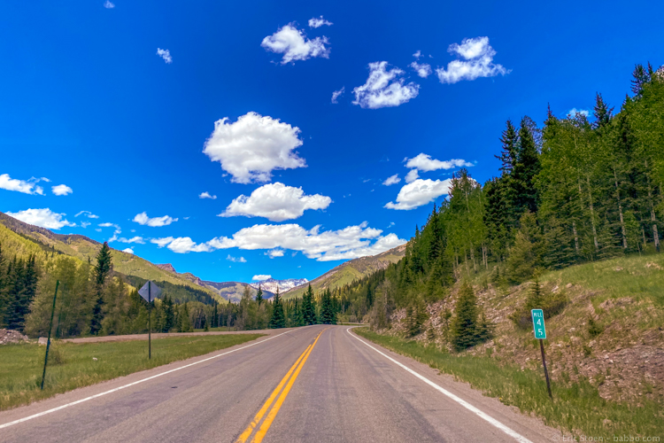 SW USA Road Trip Planner - In Colorado, heading to Telluride