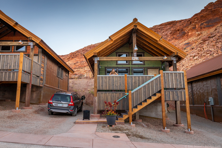 Road Trip Stops - Our cabin at Moab Springs Ranch